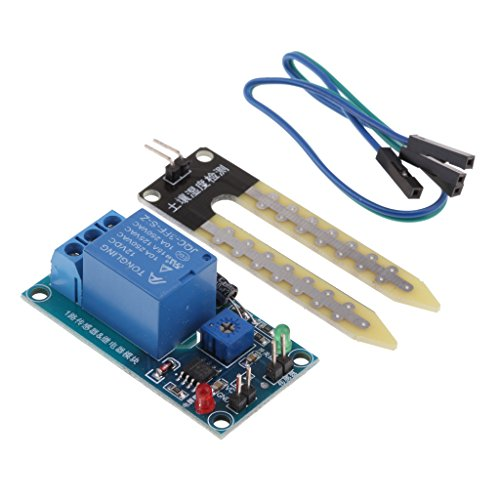 Sharplace Boden Hygrometer Feuchtigkeits Detektionsmodul Feuchtesensor für Arduino, 12V DC