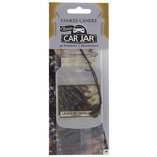 YANKEE CANDLE Lavendel Vanille Auto & Haus Lufterfrischer Car Jar Karton, Plastik, violett, 7.9 x 19.7 x 1 cm