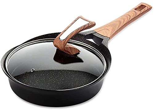 ZHANXKNonstick Steak Frying Pan Household Kitchenware Smokeless Small Wok Gas Induction Cooker General Frying pan (Size : A)