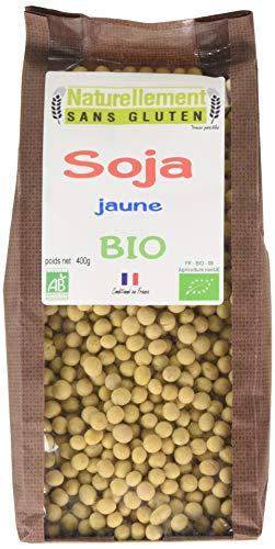 NATURELLEMENT SANS GLUTEN Soja Jaune Dépelliculé Bio 400 g - Lot de 6