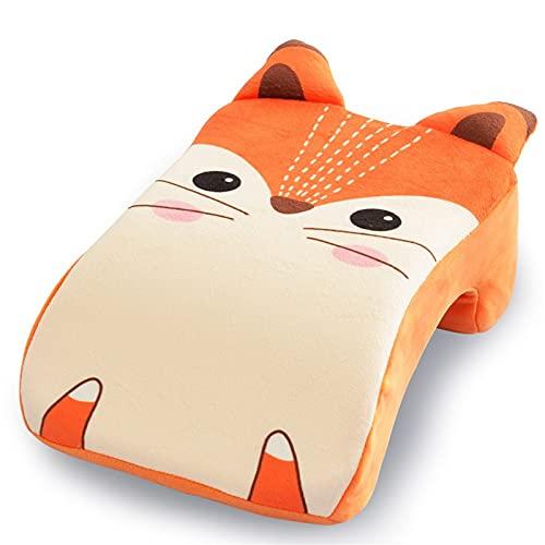 Giftik Almohada para bebé para recién nacidos, prevención de cabeza plana, dibujos animados, lindas almohadas para dar forma a la cabeza del bebé para dormir, para bebés de 0 a 12 meses (Zorro)