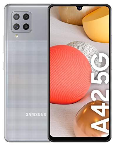 """SAMSUNG Galaxy A42 5G, Smartphone Android Libre de 6.6"""" HD+, 4G RAM 128GB Memoria Interna Ampliable, Batería 5.000 mAh y Carga rápida Color Gris [Versión española]"""
