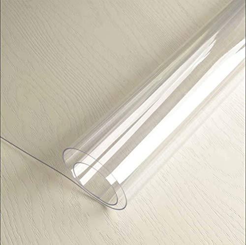Toptablecloths Cubierta de mesa transparente de PVC 1,5 mm impermeable a prueba de aceite (80 x 110 cm)