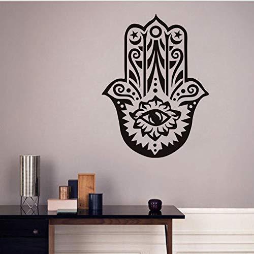 GKAWHH Fe Islámica Fatima Mano Pegatinas De Pared para Sala De Estar Tatuajes De Pared Símbolo Árabe Decoración del Cartel Accesorios