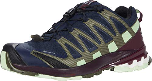 SALOMON Speedcross 4 GTX, Trail Running Shoe Donna, Blu (Navy Blazer/Wine Tasting/Patina Green), 37 1/3 EU