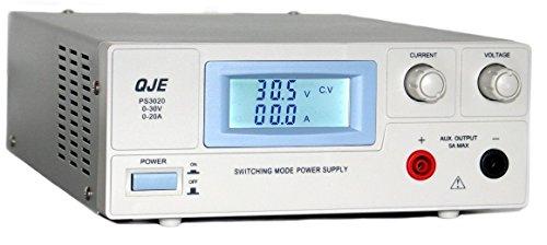 Komerci PS3020 Regelbares DC Labornetzgerät Labornetzteil als Schaltnetzteil 0-30V 0-20A Grau Netzteil Netzgerät