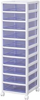 アイリスオーヤマ チェスト スーパークリア 10段 幅32×奥行39×高さ108.4cm ホワイト / クリアブルー 白 プラスチック SCE-1000