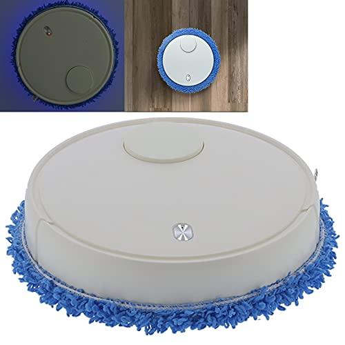 FEYV Aspirador, Limpieza de Alta frecuencia Hogar de bajo Ruido 3 en 1 Barredora Inteligente anticolisión con humidificación para Oficina(White)