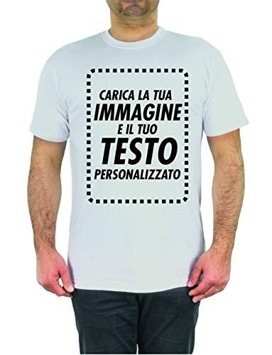 T-Shirt Personalizzata Online Crea Ora la Tua Maglia con Immagine e Testo Personalizzabile Manica Corta (M)