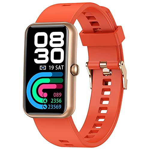 RTUQ Reloj inteligente para hombres y mujeres, resistente al agua IP68, reloj deportivo con podómetro, rastreador de fitness, reloj inteligente, reproducción de música y Bluetooth para iOS y Android