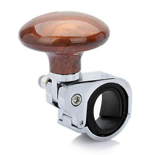 Wakauto pomello del volante spinner della booster di potenza sfera di supporto del volante in metallo per autoveicoli (color legno pesca)