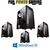 IOZ TECH VALS Custom Budget Gaming Desktop PC for High FPS Latest Graphics Card GTX 1050 AMD FX 4300 Quad Core 8GB RAM 1TB Hard Drive PUBG COD and All New Games Epic Setting 50 FPS LED Tower Computer