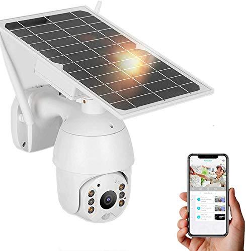Cámara HD 1080P, cámara de seguridad solar para exteriores, cámara IP inalámbrica 3G / 4G, cámara de vigilancia resistente a la intemperie, con monitoreo de crucero de 360 ° Detección(EU)