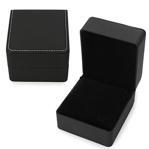 ZOOMY Kunstleder Uhrenbox Armband Armreif Kissen Kissen Display Halter Fall - Carbon Black