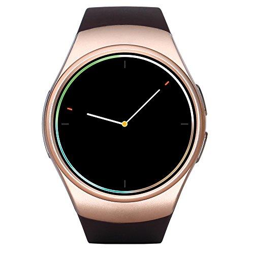 ZJTA KW18 Smart Watch, rond touchscreen, smartwatch met simkaart en TF-kaartsleuf met slaapmonitor, waterdichte hartslagmonitor en pedometer, voor iOS en Android