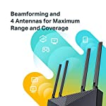 TP-Link WiFi 6 Router – 802.11ax Router, Gigabit Router, Dual Band, OFDMA, Parental Controls, Long Range Coverage… 13 JD Power Award ---Highest in customer satisfaction for wireless routers 2017 and 2019 Wi-Fi 6 Router: Archer AX10 comes equipped with latest wireless technology WiFi6 featuring OFDMA 1024-QAM, drastically increasing the speed and efficiency of the entire network. Next-gen Dual Band router – 300 Mbps on 2. 4 GHz (802. 11n) + 1201 Mbps on 5 GHz (802. 11ax)
