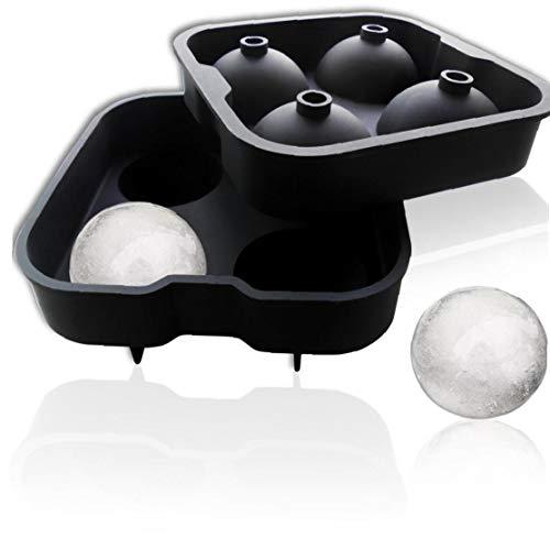 iHOMIKI Ice Boule Moule Glace Sphère Silicone Rounds Maker 4x4.5cm, Parfait pour Whisky Japonais, Cocktail Et Boisson Tous