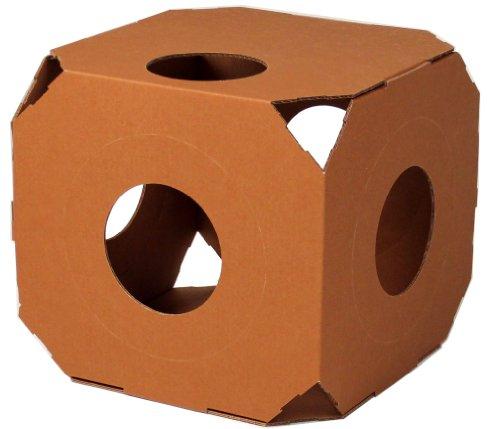 Catty Stacks Modular Cat Condos, Chocolate Brown