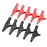 10Pcs 1000V 32A Heavy Duty Full Insulated AutomotiveCar Battery AlligatorClips Electrical Test Clips with 4mm Banana Jack Socket for Multimeter Test Leads