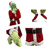 Trajes de Navidad Conjunto Completo de Hombres y Mujeres del Partido de Cosplay Disfraces (Size : L)