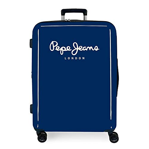 Pepe Jeans Albert Luggage- Suitcase, 48x70x26 cms, Azul