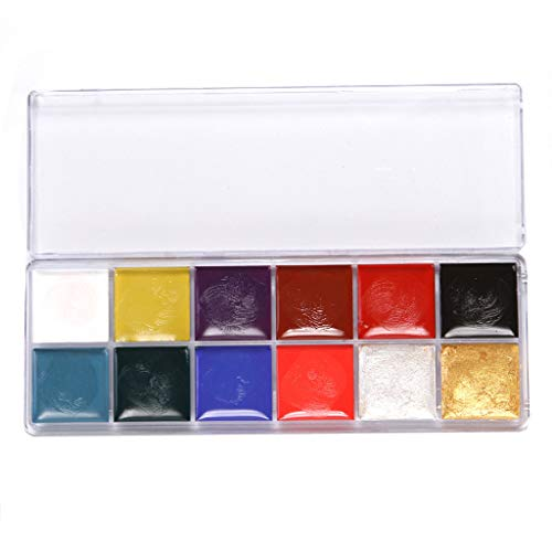 Vovo 12 en 1 Flash Visage Corps Peinture Huile Art Maquillage Noël Déguisements Party Palette