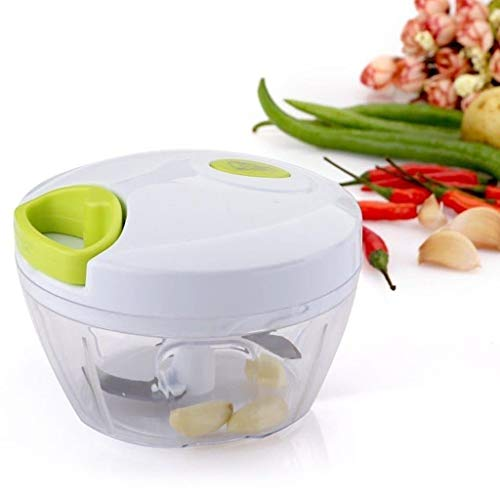Mini Manual Vegetable Food Chopper - Compact Powerful Hand Held Blender Fruits Nuts Herbs Onions Garlics Meat, for Salsa Salad Pesto Coleslaw Puree - Portable Food Processor Best Xmas Gift BOXED