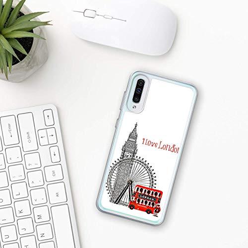 Big Ben Hülle Samsung Galaxy Case A10 A20 A30 A40 A50 A70 M10 M20 M30 2019 Plastik Silikon phone case Uhr Stadt london Glockenspiele Glocke Turm