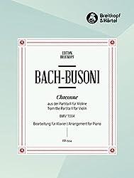 Chaconne BWV 1004 (d\'après la Partita No 2 pour Violon) --- Piano