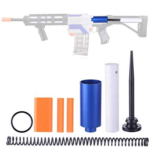 NFtop Groß Metall Zylinder + 16KG Tuning-Feder + Zylinder Push Rod Kit Upgrade Zubehör Set für Nerf Retaliator Spielzeugblaster