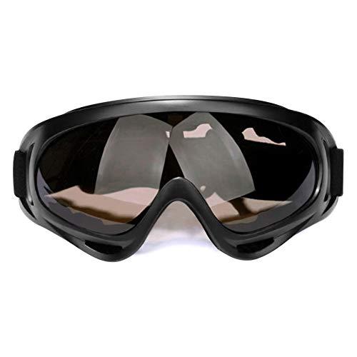 SENDILI Gafas de Nieve a Prueba de Viento - Snowmobile Ski Goggles Ciclismo Antipolvo Anti-Niebla Protección,Marrón