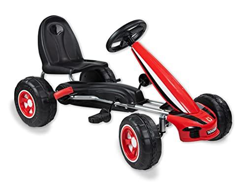 Teorema Giocattoli 66376 - Go Kart a Pedali per Bambini con Freno, Rosso