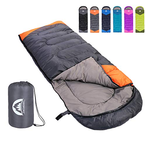 Sleeping Bag 3 Season Warm & Cool Weather - Summer, Spring, Fall, Lightweight,Waterproof Indoor &...