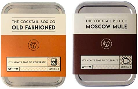 The Cocktail Box Co Old Fashioned and Cocktail and Moscow Mule Cocktail Kit Combo Pack product image