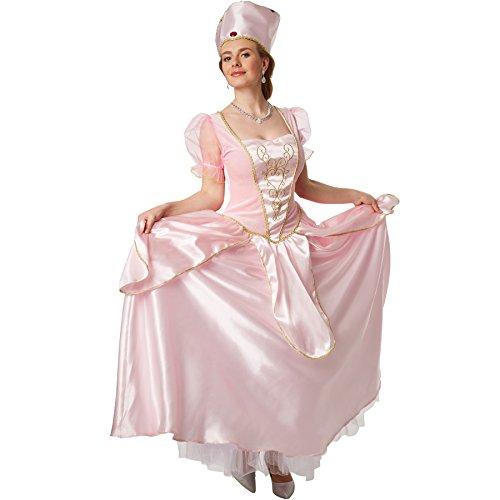 dressforfun Disfraz de Princesa Bella Durmiente | Vestido Encantador de la Bella Durmiente con Apariencia de Seda | Incl. Corona con Gemas (M | no. 301879)