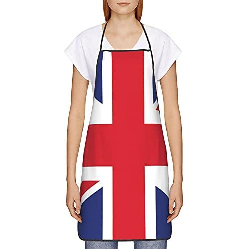 Delantales de bandera de Reino Unido para cocina, barbacoa, cocina, jardinería, impermeable, duradero y gran regalo para hombres y mujeres, 20,5 x 28,7 cm