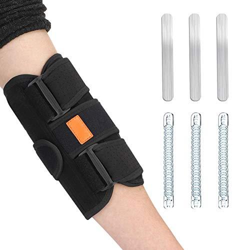 DSFSAEG Ellenbogen-Bandage, verstellbarer Riemen, Stabilisator, Unterstützung für Kubitaltunnelsyndrom, Ellenbogenstütze bei Sehnenscheidenentzündung, Ellenbogenmanschette für Ulnarnervenverklemmung