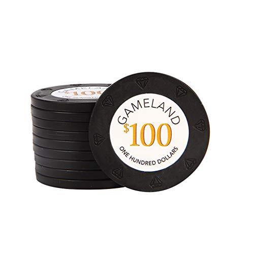 HOUSEHOLD Conjunto de Chips Fichas De Poker 100 Fichas de Texas Hold'em Poker Juego de Mesa Chips Suministros para La Fiesta