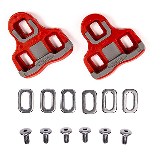 VeloChampion Cleats Compatible with the 'Look Keo' Grip Pedal 6 Degree Float Red