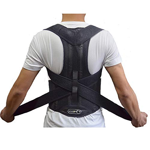 ZSZBACE Back Brace Posture Corrector Clavicle Support Brace Medical Device to Improve Bad Posture, Thoracic Kyphosis, Shoulder Alignment, Upper Back Pain Relief for Men and Women (XXL)