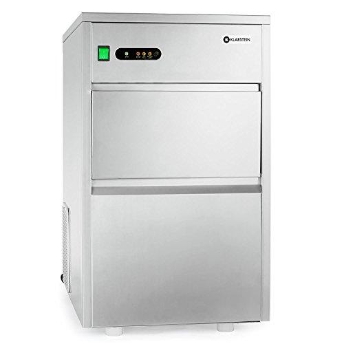 Klarstein Powericer XXL - macchina ghiaccio, Ice Maker, professionale, 26 kg/24 h, 160 watt, Paletta, Tubo, LED, rivestimento interno neutrale, molto silenzioso, Classe climatica ST