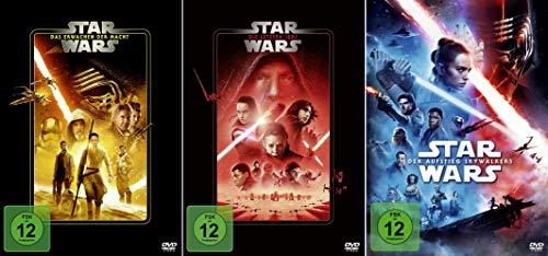 Star Wars Paket - Das Erwachen der Macht (7) + Die letzten Jedi (8) + Der Aufstieg Skywalkers (9) [3-DVD]