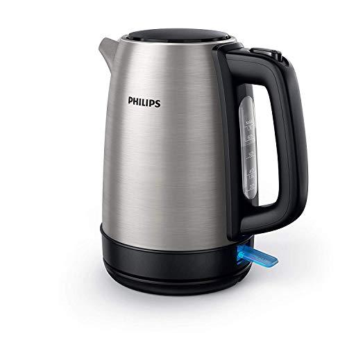 Philips HD9350/90 Bollitore elettrico 2200 Watt, Capacità 1,7 litri, Corpo principale in Acciaio inossidabile, Spegnime