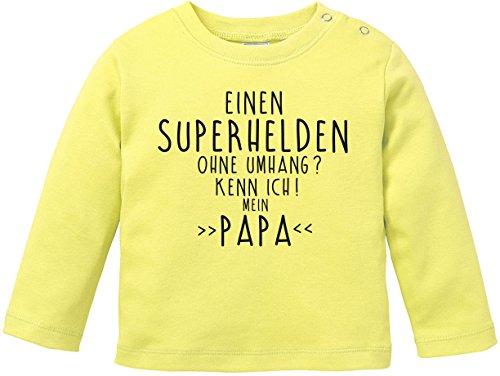 EZYshirt® Einen Superhelden ohne Umhang ? Kenn ich Mein Papa Baby T-Shirt Longsleeve