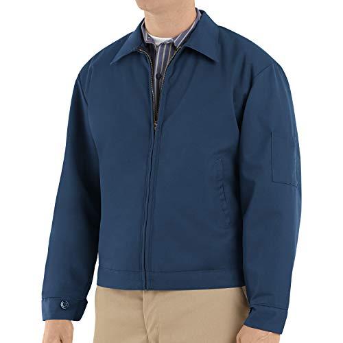 Red Kap Men's Slash Pocket Quilt-Lined Jacket, Navy, Large