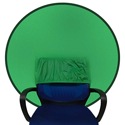 "Portable Webcam Background Green Background Screen Portable 43""/110cm for Photo Video Studio,Collapsible Background,Single-Side Chromakey Green Screen for Chair"