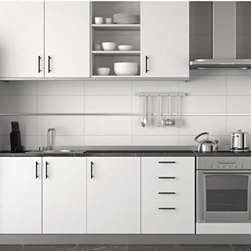 Probrico (30 Pack) Flat Black Modern Cabinet Pulls 3