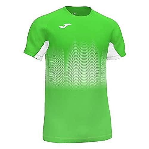 Joma Elite VII Camiseta Running Manga Corta, Hombre, Verde Fluor, S