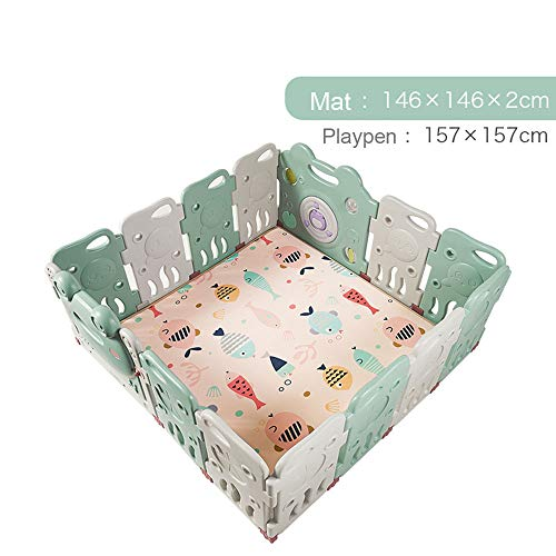 Affordable LDAOS Safety Protection Baby Safety Play Playpen, Extra Large Rubber Anti-Skid GG-45I1 Ki...
