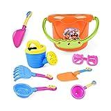 Bambini Beach Toys Set, Spiaggia di sabbia Toy Set Sand Toys benna, pale, rastrelli, annaffiatoio colore casuale Kid Toys